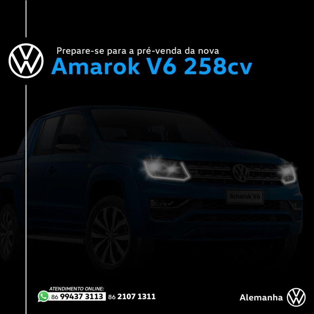 Prepare-se: pré-venda da Volkswagen Amarok V6 de 258 cavalos começa hoje!