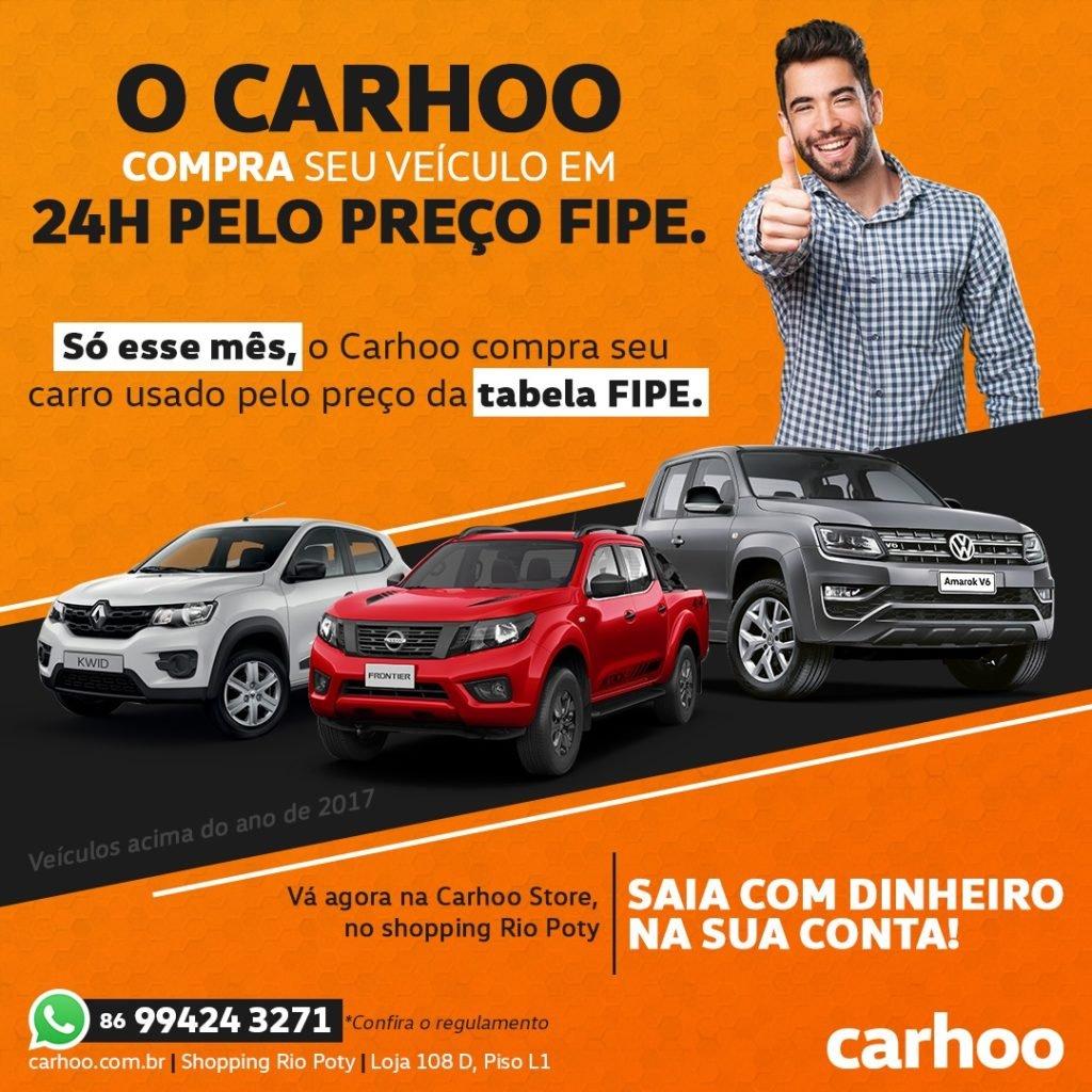 Só este mês, Carhoo compra seu carro usado pelo valor da Tabela FIPE!! Saiba mais