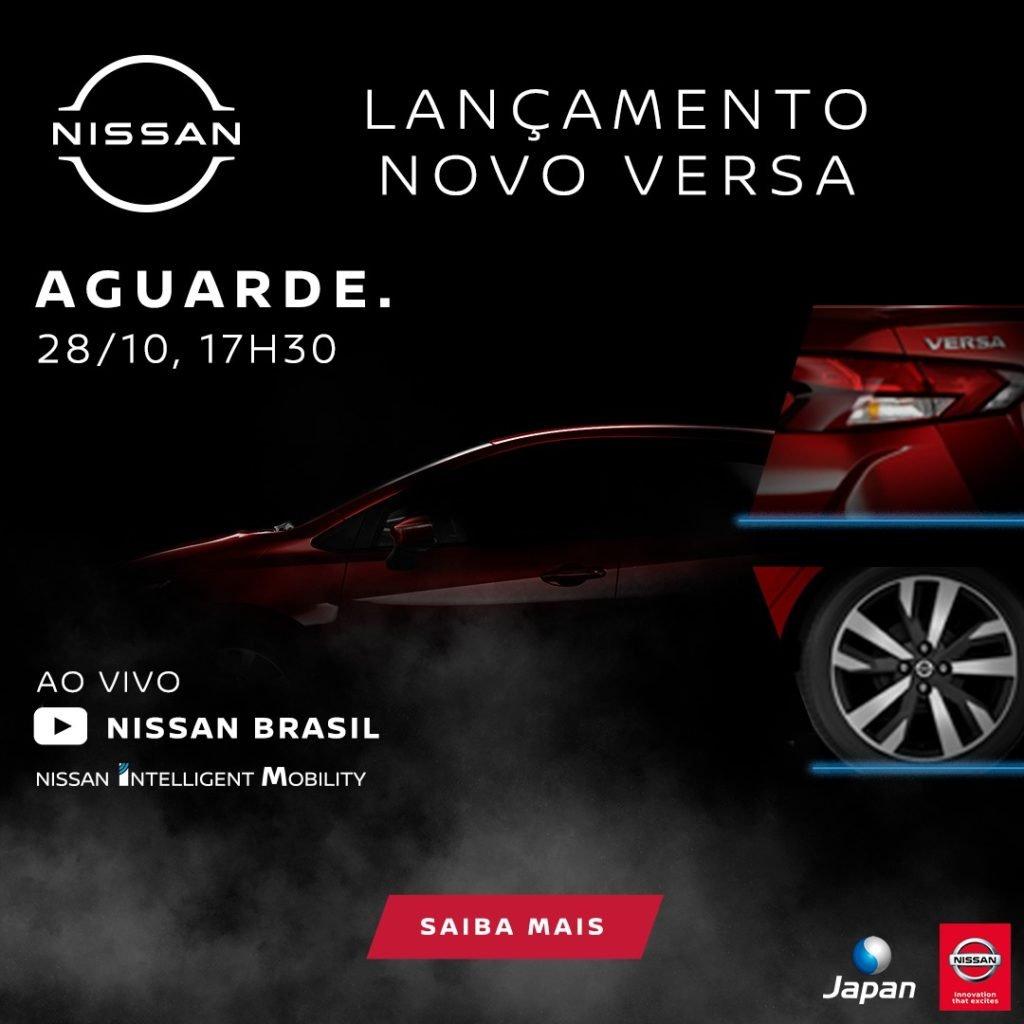 Nesta quarta: acompanhe a live de apresentação do Nissan Versa 2021, totalmente renovado!