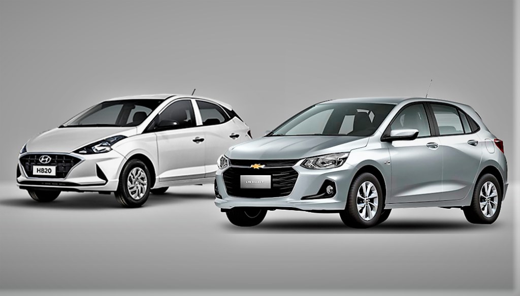 Hyundai HB20 perde 10 vezes mais valor de revenda do que o novo Chevrolet Onix