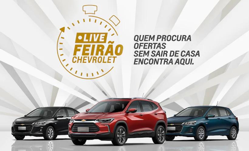 Live Feirão Chevrolet: cadastre-se para aproveitar ofertas válidas só neste sábado!