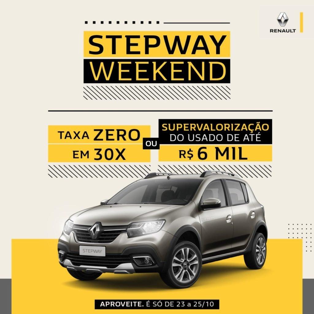 Stepway Weekend: condições incríveis para o Renault aventureiro neste fim de semana!