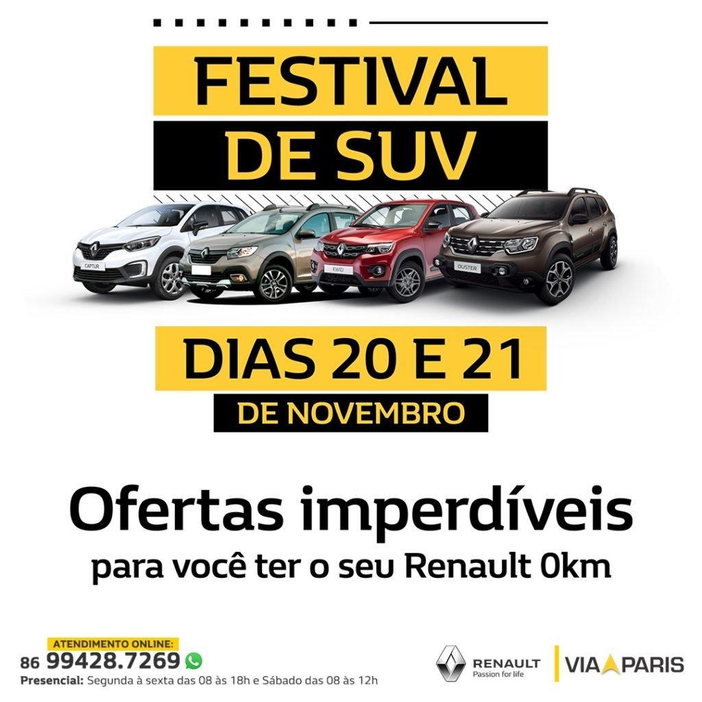 Festival de SUV Via Paris: toda a linha de SUVs Renault em oferta!