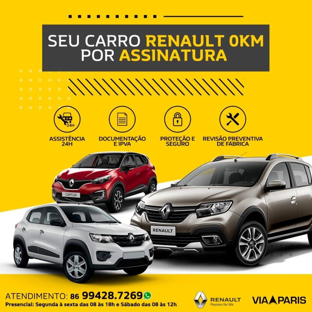 Renault por assinatura: uma nova forma fácil e segura de rodar com um Renault zero!