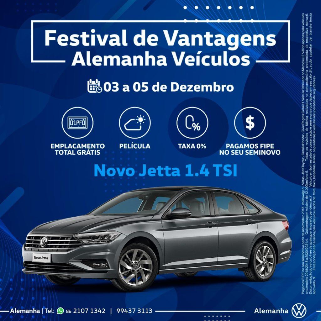 Festival de Vantagens Alemanha Veículos: condições incríveis para o Novo Jetta!
