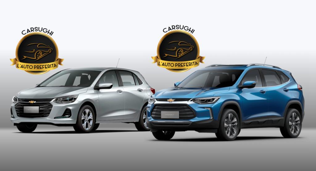 Novos Chevrolet Onix e Tracker são vencedores do prêmio L'Auto Preferita 2020