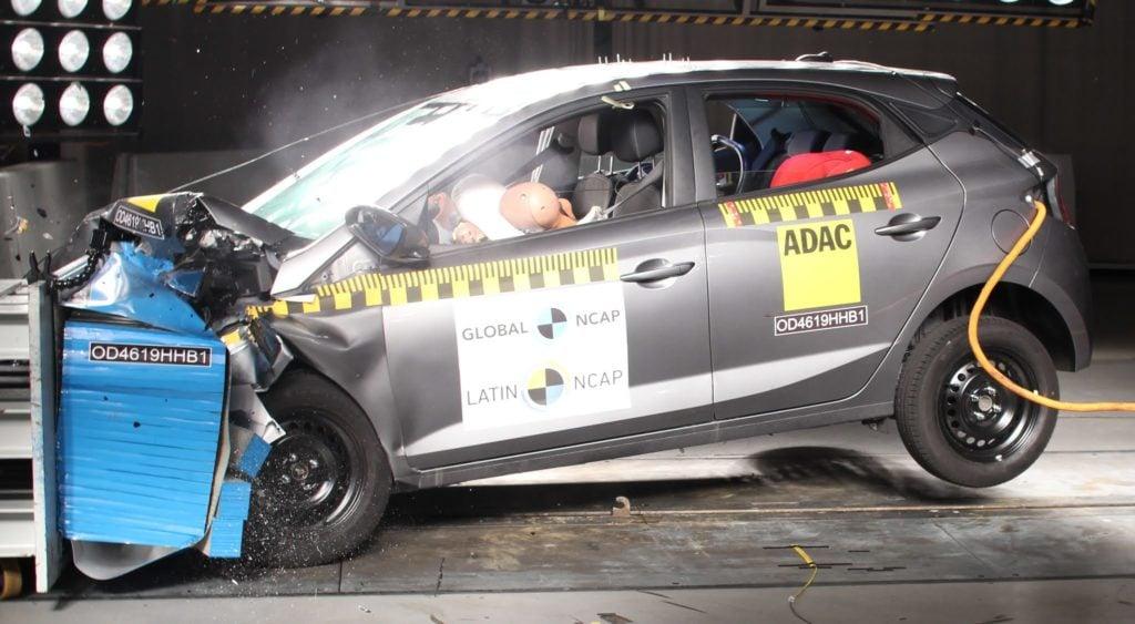 Hyundai HB20 é reprovado pela terceira vez em testes de segurança do Latin NCAP