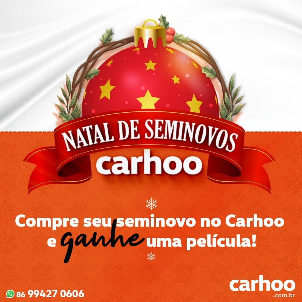No Natal de Seminovos Carhoo, você ganha presente na compra do seminovo: confira!
