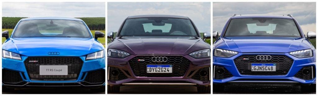 Superesportivos da Audi, novos TT RS, RS4 Avant e RS5 Sportback chegam ao Brasil