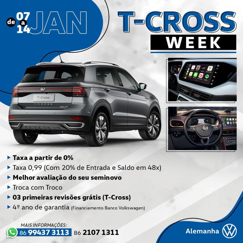 T-Cross Week: a melhor oportunidade para começar o ano com o SUVW zero!