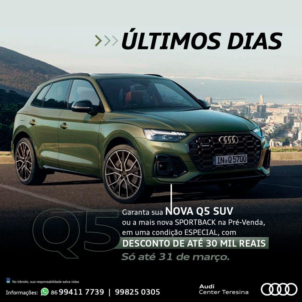 Últimos dias de pré-venda: Audi Q5 e Q5 Sportback com descontos de até R$ 30.000,00!