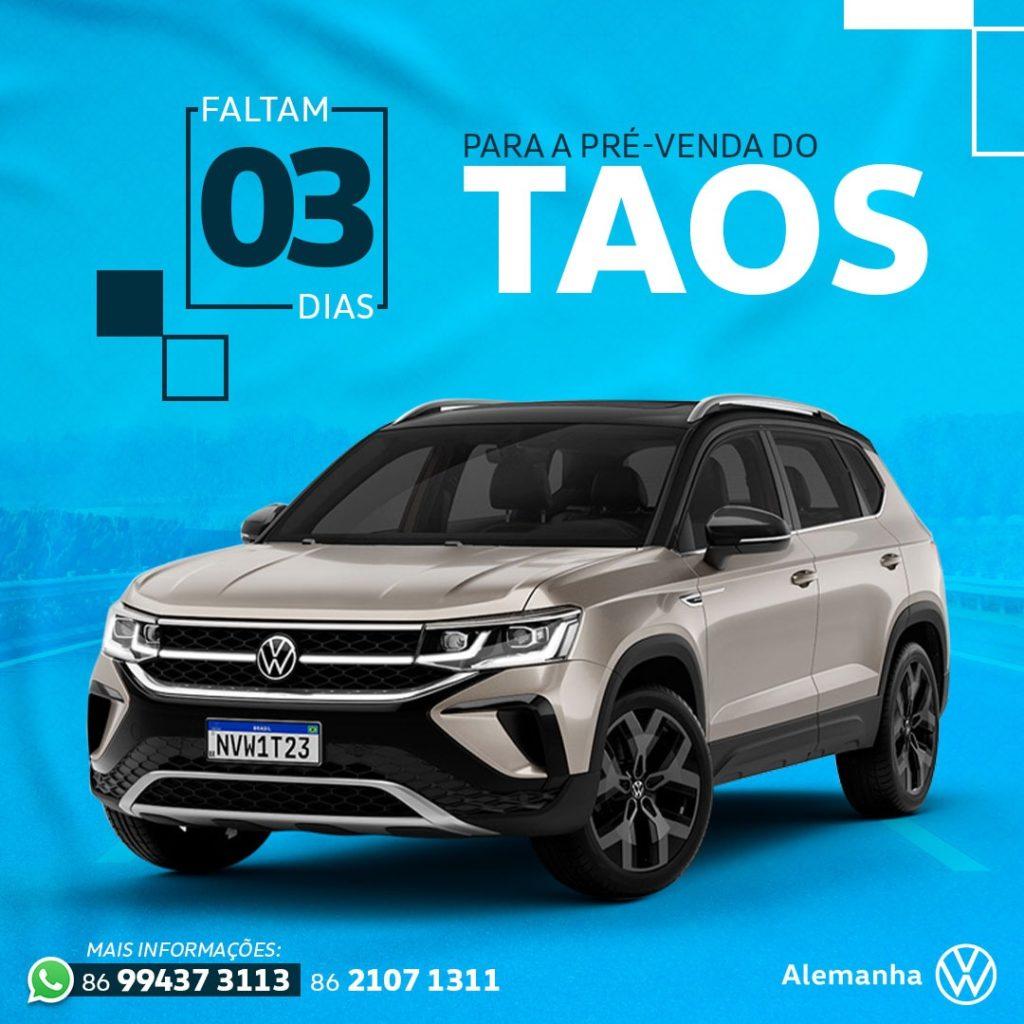 Pré-Reserva do Volkswagen Taos com benefícios exclusivos: conheça e aproveite!