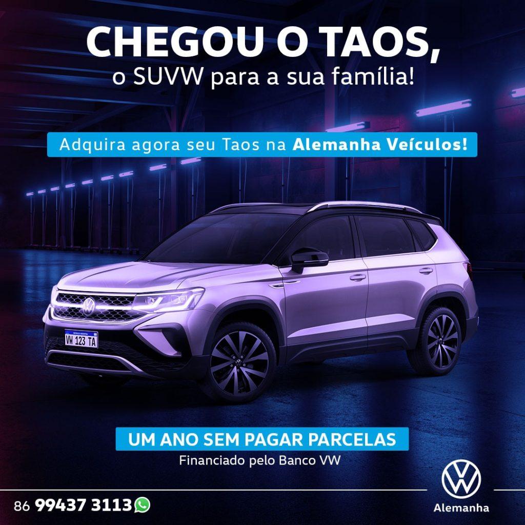Garanta já o Volkswagen Taos com 1 ano sem pagar parcelas: saiba mais!