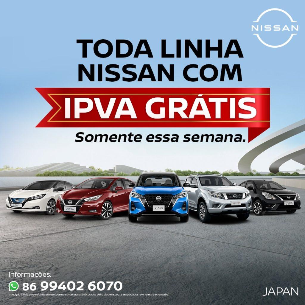 Só esta semana: Toda linha Nissan com IPVA Grátis na Japan Veículos!!
