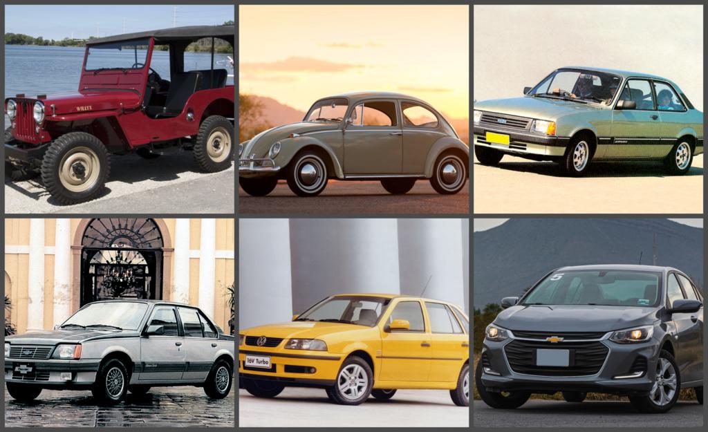 Conheça todos os carros que foram líderes de vendas no Brasil, de 1957 até hoje