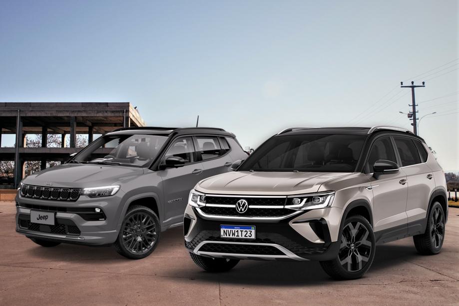Volkswagen Taos x Jeep Compass: qual é o melhor SUV médio do Brasil? Descubra!