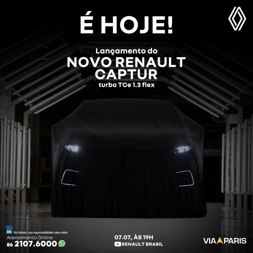 Lançamento do Renault Captur Turbo Flex hoje às 19h: saiba mais!