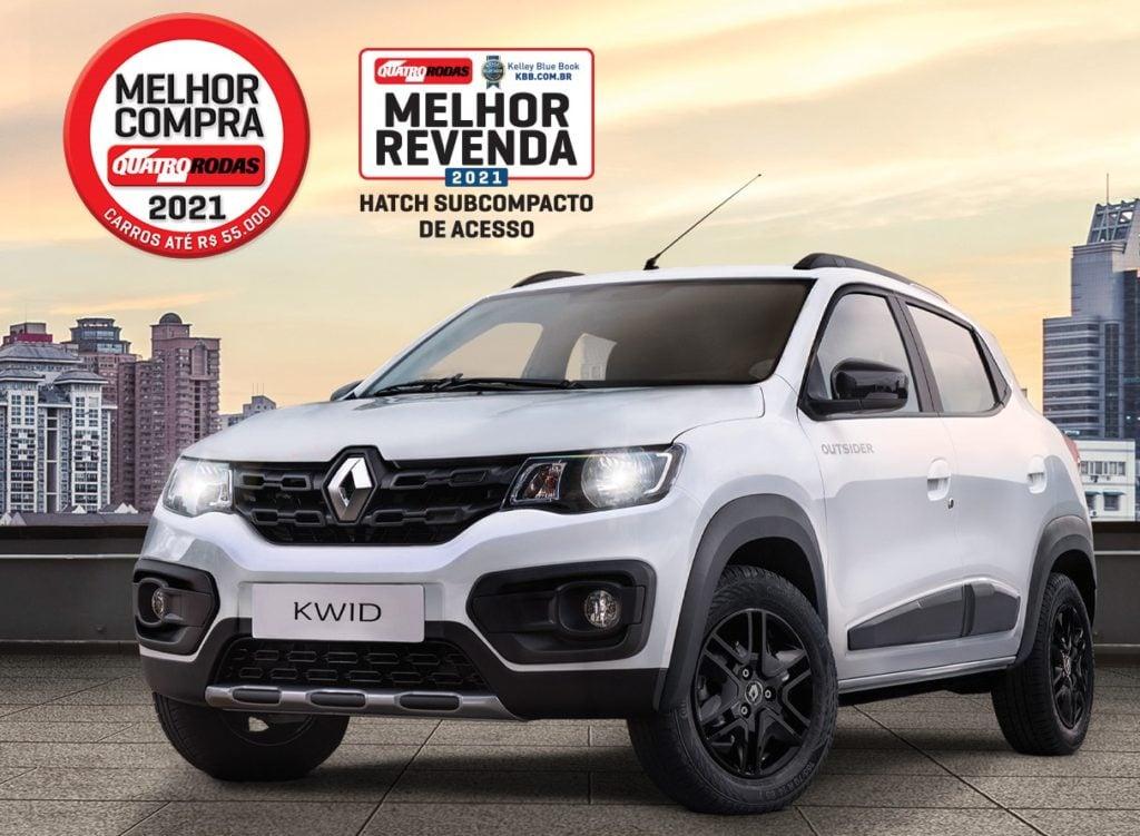 Renault Kwid é pentacampeão na premiação Melhor Compra de 2021
