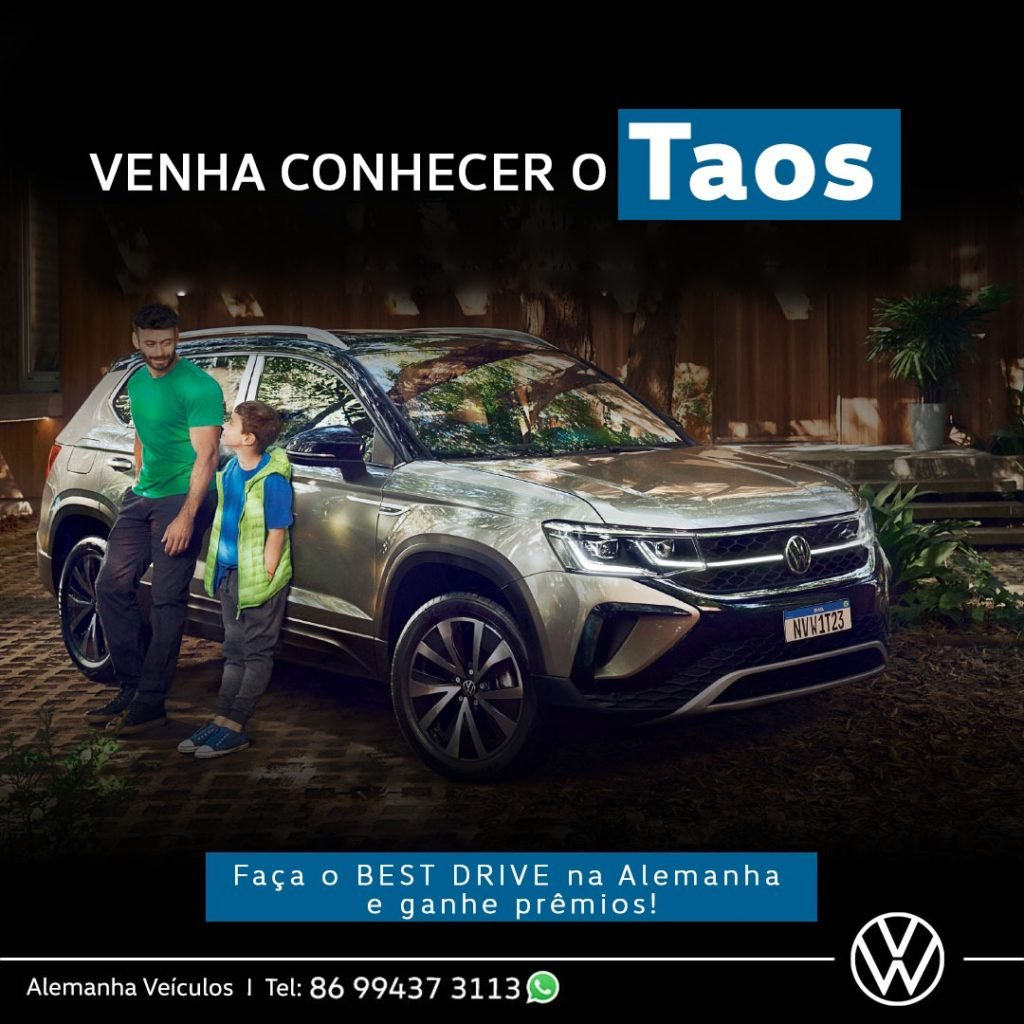 Conheça o novo Volkswagen Taos, faça o Best Drive e ganhe prêmios!