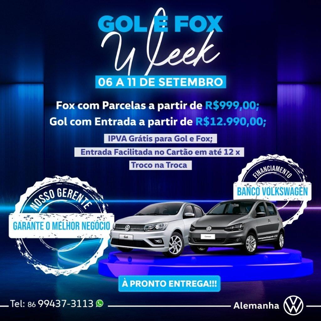 Gol e Fox Week inicia hoje: garanta o melhor negócio em um Volkswagen!
