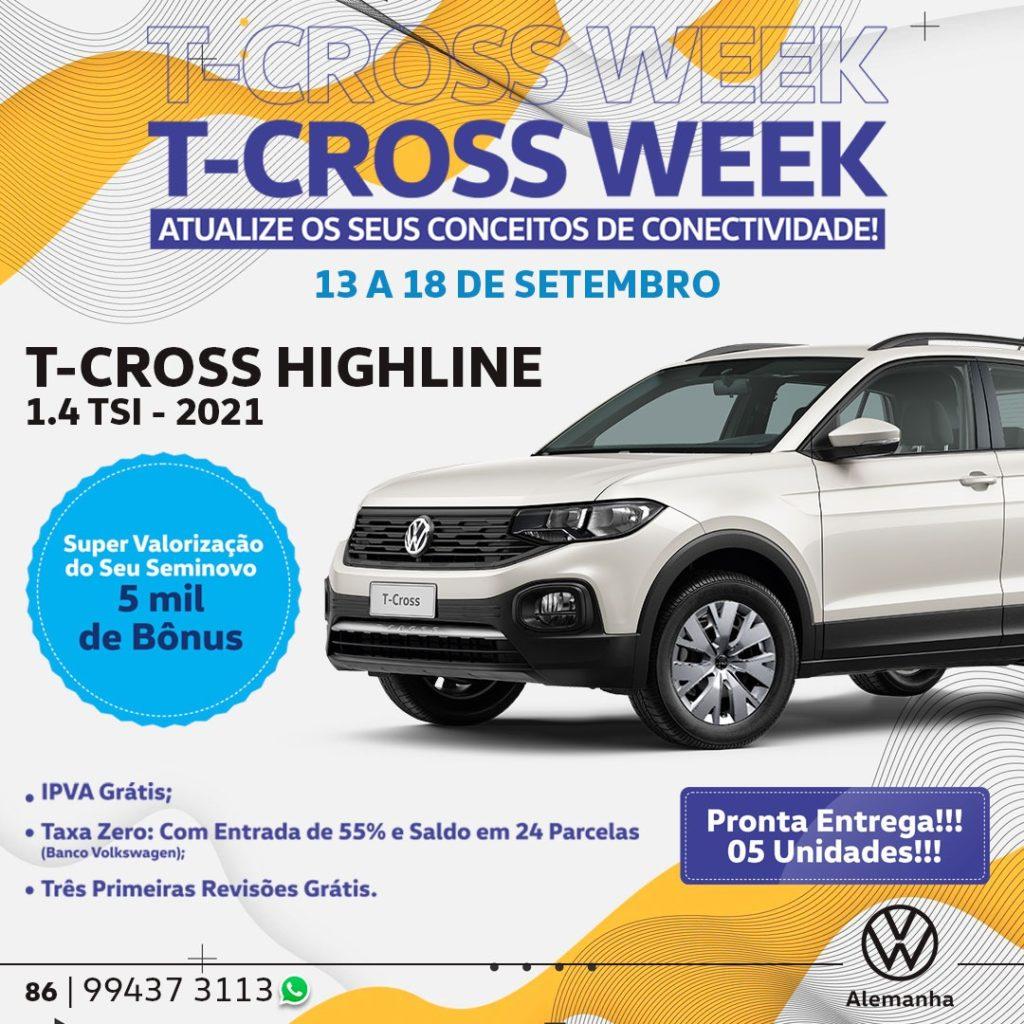 T-Cross Week: confira o combo de vantagens esperando por você!!