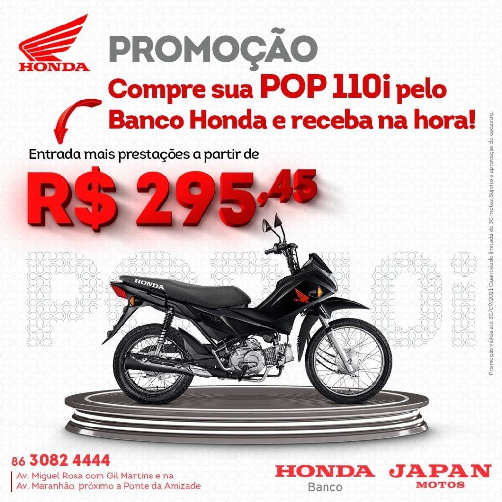 Garanta sua Honda Pop 110i na Japan Motos com parcelas reduzidas e pronta entrega!