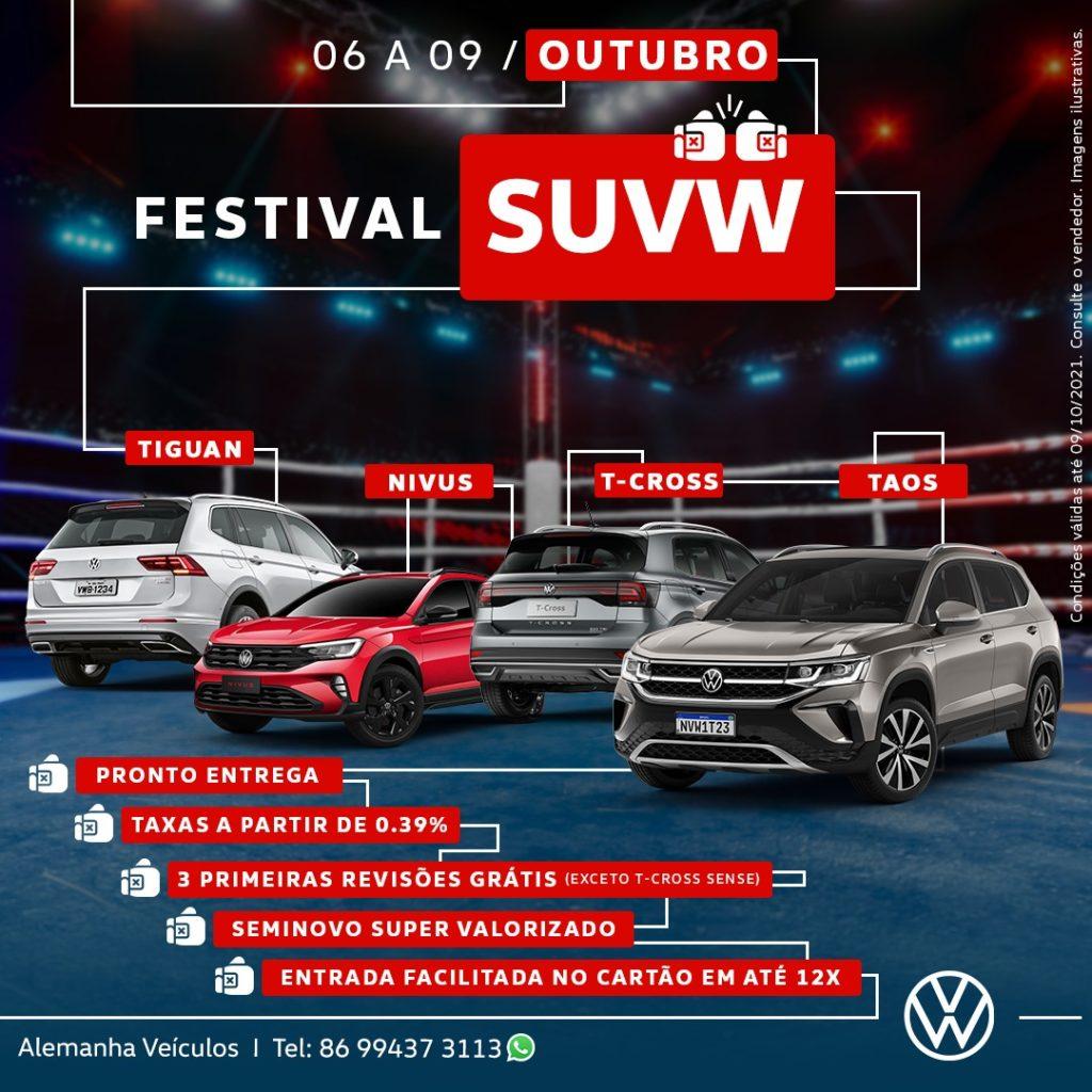Festival SUVW na Alemanha Veículos: megaofertas para toda a linha de SUVs Volkswagen!