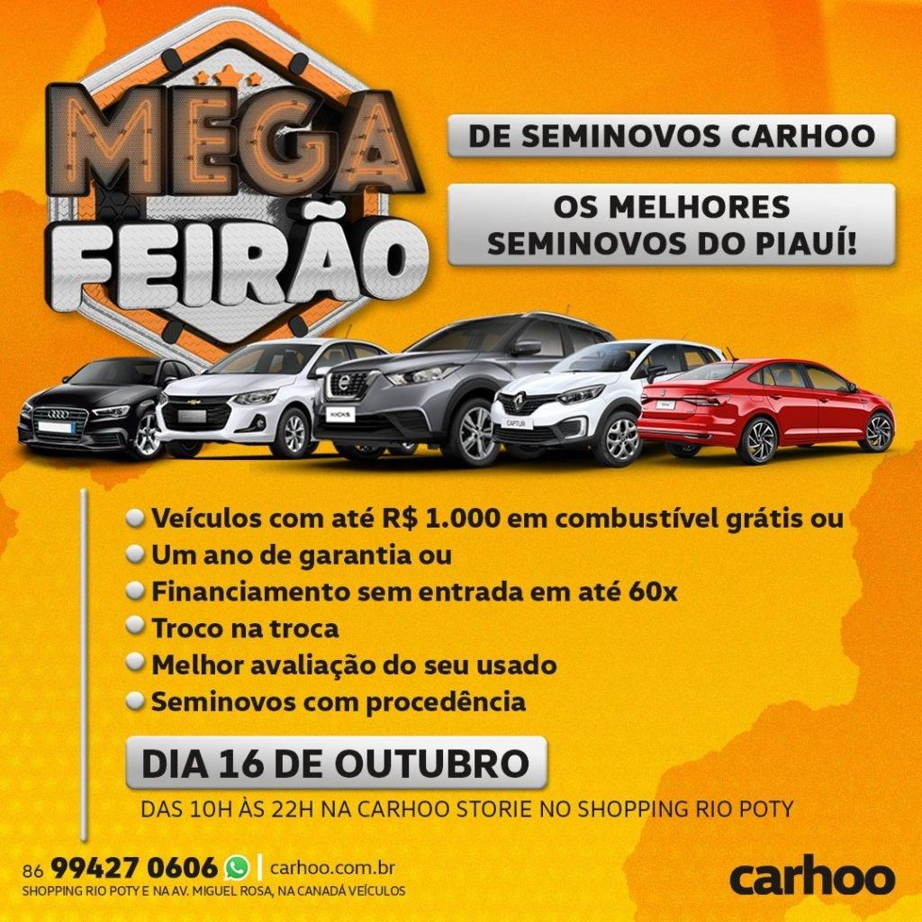 Somente neste sábado: Mega Feirão de seminovos Carhoo terá vantagens imperdíveis!
