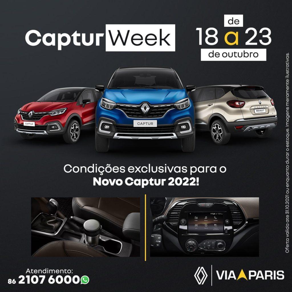 Começou a Captur Week: condições exclusivas para levar o SUV Turbo de 170 cv!